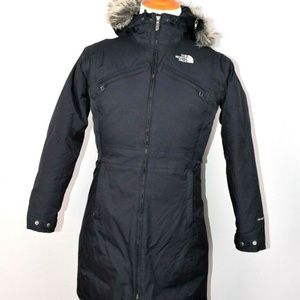 The North Face Womens Black Puffer Parka M Hyvent